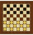 Draughts checker board vector image vector image