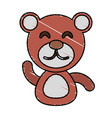draw bear animal comic vector image vector image