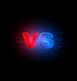 emblem vs versus red and blue letters vector image vector image