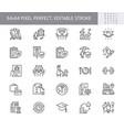 employee benefits line icons vector image