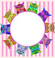 frame with bright colorful owls vector image vector image