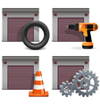 Garage Icons set 2 vector image