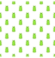 Green men t-shirt pattern cartoon style vector image vector image