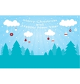 Greeting Christmas and New Year Post card vector image vector image