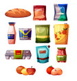grocery products supermarket vector image vector image