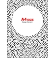 halftone dots frame circle background a4 size