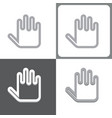 hand or palm icon vector image vector image