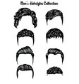 handdrawn mens hairstyles collection vector image vector image