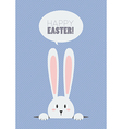 Happy Easter with white rabbit vector image vector image