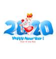 happy new year year rat vector image