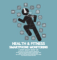 Health And Fitness Smartphone Monitoring vector image