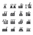 Industrial building icon vector image vector image