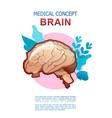 internal organs medical poster concept vector image