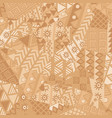 irregular patchwork pattern with african motifs vector image
