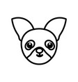 isolated dog cartoon icon design vector image