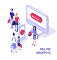 isometric online shopping 3 vector image vector image