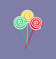 Lollipop candy vector image
