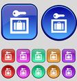Luggage Storage icon sign A set of twelve vintage vector image