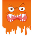 mad monster face dripping vector image
