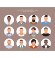 Male avatar icons set People characters in vector image vector image