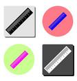 measurement ruler flat icon vector image