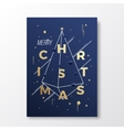 Merry Christmas Abstract Minimalistic vector image vector image