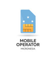 micronesia mobile operator sim card with flag vector image vector image