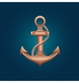 nautical bronze anchor vector image