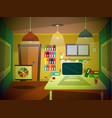 office room retro cartoon vector image vector image