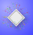 Open box with fireworks from confetti vector image vector image