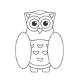 Owl bird flat icon wisdom symbol vector image vector image