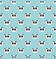 panda seamless pattern cute panda face on blue vector image
