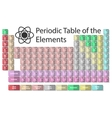periodic table on a white vector image vector image