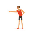 professional fitness coach or instructor yelling vector image vector image
