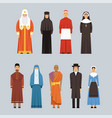 religion people set men and women of different vector image vector image