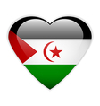 Sahrawi Arab Democratic Republic button vector image
