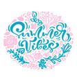 scandinavian calligraphy lettering floral vector image vector image