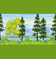 seamless cartoon nature background vector image