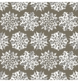 Seamless christmas origami snowflake pattern vector image vector image