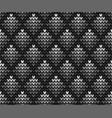 seamless gray squares knitting vector image