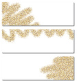 Set of banners with sand vector image