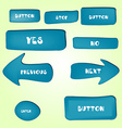 Set of cartoon buttons with different shapes vector image