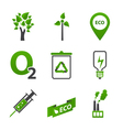 Set of ecology icons vector image vector image