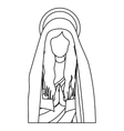 silhouette half body saint virgin mary praying vector image vector image