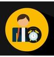 student uniform school clock design vector image vector image