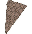 thin chocolate waffles wedge for pastry decoration vector image