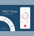 timer application ui design concept stock vector image vector image