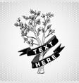 tree vintage design vector image vector image