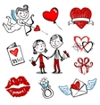 Valentine doodles vector image vector image