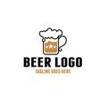 vintage retro beer logo bar design inspiration vector image